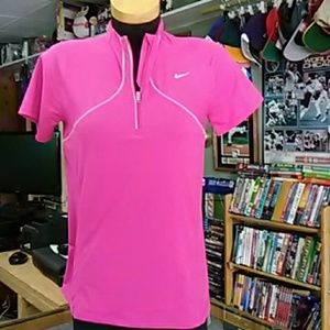 Nike Women's Dri Fit Qtr Zip Shirt #7971